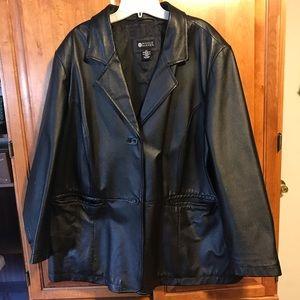 2X Black Leather Jacket